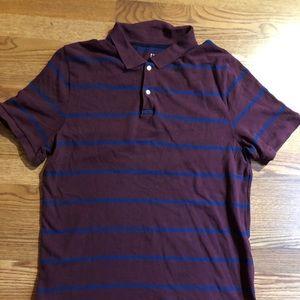 Gap burgundy and blue polo size xl